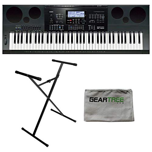 Casio WK6600 Workstation Keyboard with 76 Touch Sensitive Keys USB w/ Keyboard Stand and Power Supply