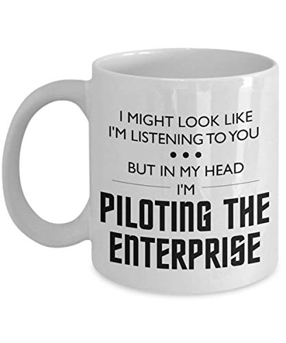 Piloting the Enterprise Humor Mug