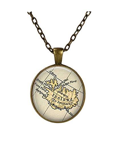 ISLAND Country Karte Halskette, Island Karte Anhänger,, Karte Jewelry