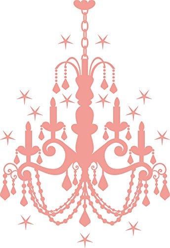 GRAZDesign Wandtattoo mit Glitzersteinen Kronleuchter, Klebefolie Deckenlampe, Wandtattoo Schloss Kristall / 83x57cm