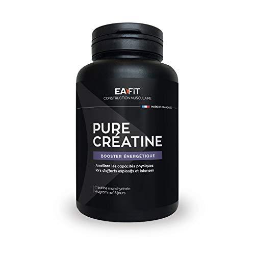 EAFIT Pure Créatine - 90 Gélules - Créatine Monohydrate (3 000 Mg) - Explosivité - Efforts Intenses - Marque Française - Certifiée Anti-Dopage