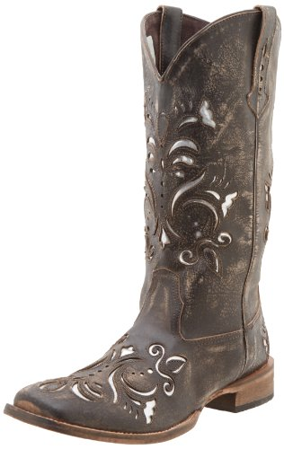 Roper womens Belle boots, Brown, 7 US