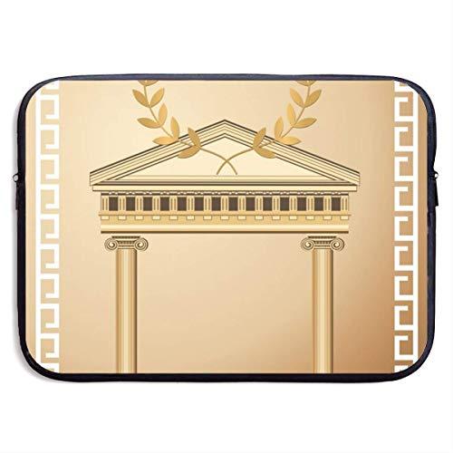 Laptop-Hülle Griechische Architektur Notebook-Tasche Laptop-Umhängetasche Schutz 15 Zoll