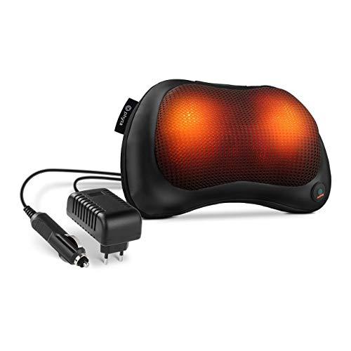 physa Almohada De Masaje Eléctrica Cojín Para Cuello PHY-24MP-2 (4 cabezales, Función de calor, Adaptador para auto, 2 direcciones de giro)