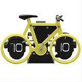 TUDUDU Reloj De La Mesa De La Bicicleta Flip Down Reloj Auto Flap Relojes Digitales Retro Flip Reloj Vintage Pared Novedad Escritorio Reloj 8 Pulgadas