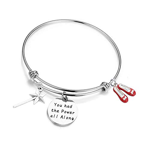Good Witch Quote You had the Power all along Bracelet Fandom Jewelry Inspirational Gift (Bracelet)