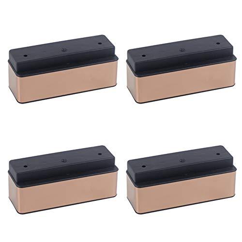 YHPD 4 meubelpoten, bankpoten, salontafelpoten, tv-kasten, kastpoten, bedpoten, steunpoten, dragende 500Kg, kunststof voetkussens met hoge dichtheid (wit, goud)