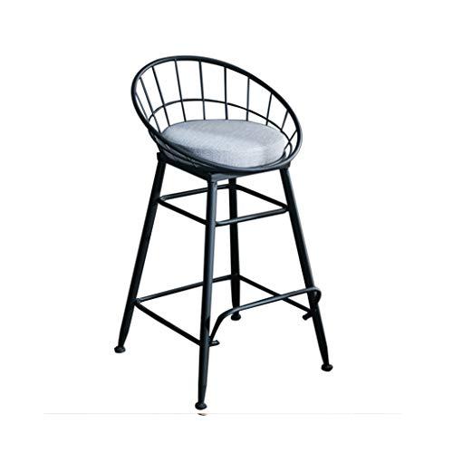 Chaise de Petit Déjeuner Hautes Tabouret haut tabouret de bar chaise de petit déjeuner et siège de coussin arrière confort cuisine comptoir de petit déjeuner serre chaude noir (taille : 47x47x65cm)