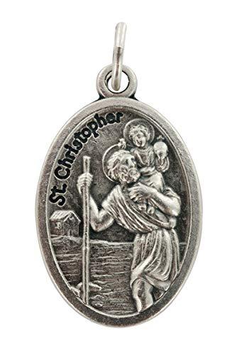 Ferrari & Arrighetti Médaille de Saint Christophe en métal rouillé - 2 cm (Lot de 10 pièces)
