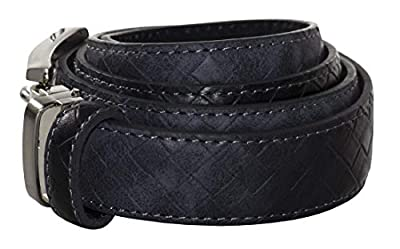 Tuxgear Mens and Boys Adjustable Length Basket Weave Dress Belt, Charcoal