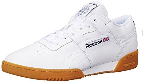Reebok mens Workout Low-m Sneaker, White/Gum, 10.5 US
