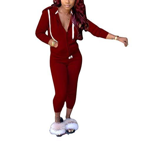 2 szt. damski dres odzież wypoczynkowa zestaw z długim rękawem bluza z kapturem spodnie dresowe damskie duże rozmiary odzież na siłownię jogging strój sportowy top i spodnie do joggingu S-2XL
