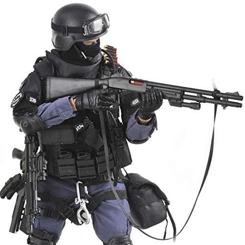 Mecotecn 1/6 Figuras Soldados, 12 SWAT Figura de Acción con Arma, Figuras Militares Conjuntos de Juegos - Attacker