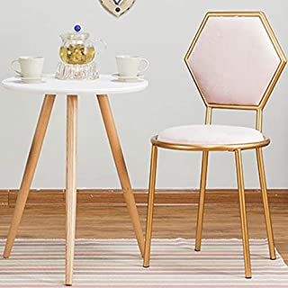 YUTRD ZCJUX Silla Moderna de Oro Dresser Volver Terciopelo manicura heces del té del café Silla del Ocio del Arte del Hier...