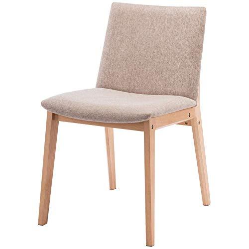 Tägliche Ausrüstung Esszimmerstuhl Stuhl Massivholz Esszimmerstuhl Restaurant Japanischer Stuhl Baumwolle Moderne Stühle (Farbe: Beige Größe: 44x53x77cm)