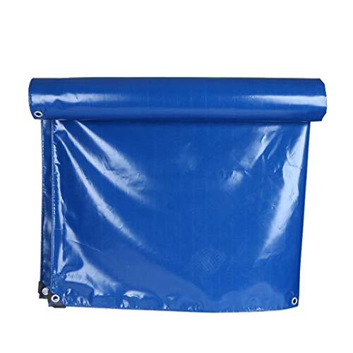 HUADA 350g / m2 Außen Tarpaulin Sheets Heavy Duty Blaue wasserdichte Starke Schutzabdeckung Schutz Tarp W/Oesen (5M X 8M) (Size : 4mx8m)