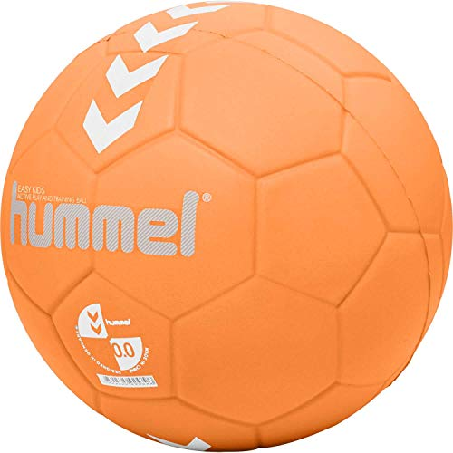 Hummel Kinder HMLEASY Kids-Handball, Orange/Weiß, 1