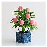 Plantas Artificiales Plantas en Maceta Artificiales Creative Fake Pomegranate Mango Manzano Planta Potted Plant Greenery Plant For Home Office Shelf Table Decoration Artificiales en Macetas