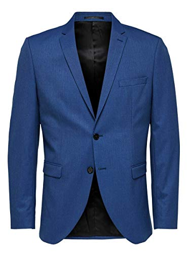 SELECTED HOMME Slhslim-mylologan Insig. Blue BLZ B Noos Chaqueta de Traje para Hombre