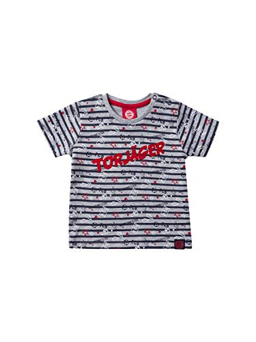 FC Bayern München T-Shirt Torjäger Baby blau/grau-Melange, 110