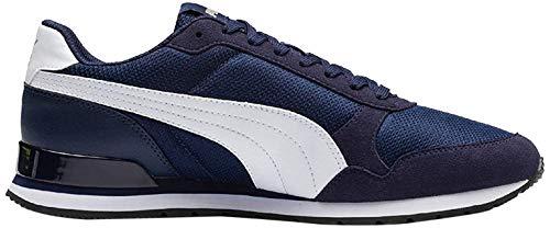 PUMA St Runner V2 Mesh, Sneaker Unisex – Adulto - Blu (Peacoat-Puma White) - 44 EU