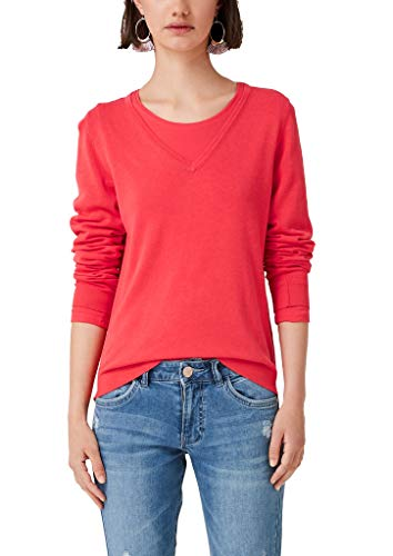 s.Oliver RED Label Damen Pullover mit V-Neck red 36