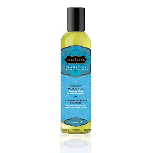 Kama Sutra Aromatic Massage Oil Made with Essential Oils for a Sensuous, Full-Body Massage 236 ml (Serenity)