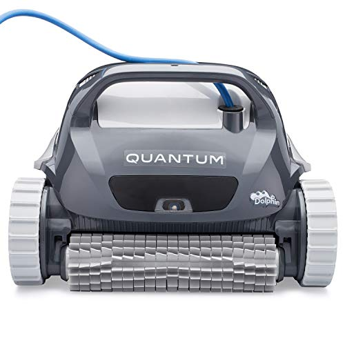 Dolphin Quantum Automatic Robotic Pool Cleaner with Extra-Large Filter Basket and Intense Waterline Scrubbing Power
