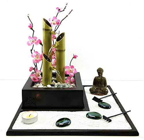 Bonseki® Fontana zen Elegance, Giardino zen da tavolo con fontanella, Personalizzabile, visualizza le opzioni.