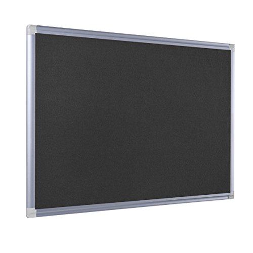 Bi-Office Filztafel New Generation, Pinnwand mit Aluminiumrahmen, 90 x 60 cm, Schwarz