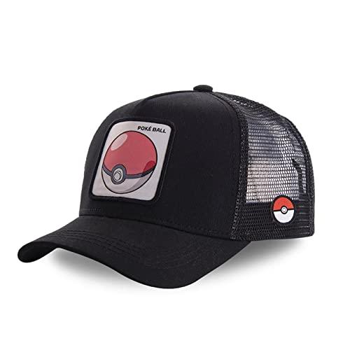 Capslab Gorra Trucker para hombre Pokemon, Pokeball 1, Talla única