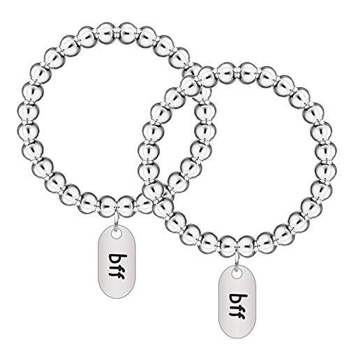 HIFOT Armband Freundschaft, Beste Freundin Geschenke bff ketten Perlen Armbänder für 2, Tag Dekoration Schmuckset...
