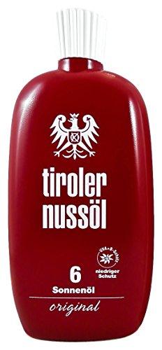 Tiroler Nussöl Zonneolie origineel waterdicht LSF 6, per stuk verpakt (1 x 75 ml)