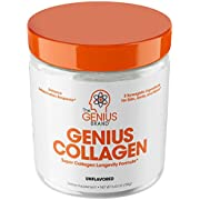 Collagen Powder - Hydrolyzed Collagen Peptides Protein Powder, Grass Fed for Hair Growth Skin Nails Joints; Post Workout Hydrolysate Collagen Supplements for Women & Men, Organic Non-GMO, Unflavored