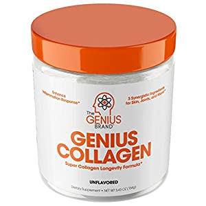 Collagen Peptides Powder – Hydrolyzed Collagen Protein Powder, Grass Fed for Hair Growth Skin Nails Joints; Post Workout Hydrolysate Collagen Supplements for Women & Men, Organic Non-GMO, Unflavored