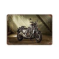 セクシーストッキングモーターサイクルガールレーシングスピードカー(49)さびた錫のサインヴィンテージアルミニウムプラークアートポスター装飾面白い鉄の絵の個性安全標識警告アニメゲームフィルムバースクールカフェ