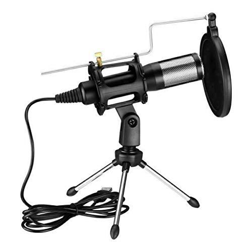 UOEIDOSB Micrófono de Condensador Puerto USB para computadora Micrófono de Estudio para PC Tarjeta de Sonido Micrófonos Profesionales Micrófono de grabación en Vivo de DJ