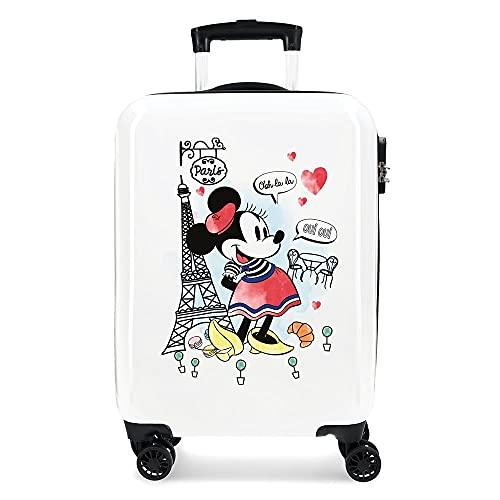 Disney Minnie Around the World Maleta de cabina Rojo 38x55x20 cms Rígida ABS Cierre combinación 34L 2,6Kgs 4 Ruedas dobles Equipaje de Mano