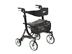 Bariatric Rollator With Extra Wide Seat
