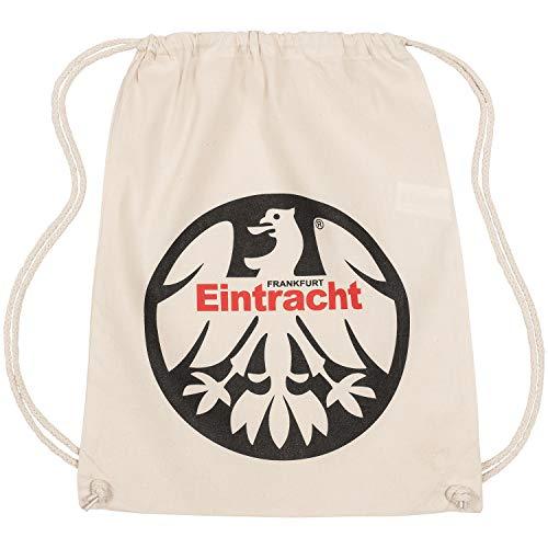 Eintracht Frankfurt Sportbeutel Logo, Turnbeutel, Gym Bag, Rucksack, Sports Bag SGE - Plus Lesezeichen I Love Frankfurt