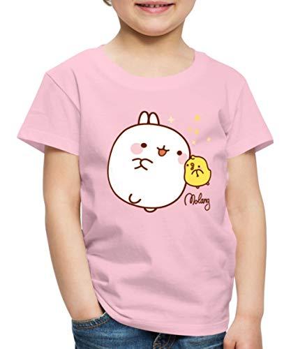 Molang Piu Piu Sterne Kinder Premium T-Shirt, 110-116, Hellrosa