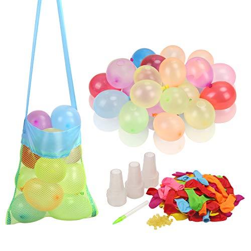 1000Stk Wasserballon Set,Bunte Wasserbomben Selbstschliessend Klein Ballon für Sommer Wasser Spielzeug Pool Hochzeit Geburtstag Garten Hawaii Party (Gummibänder Füllen Instrument ) (Wasserballons B)