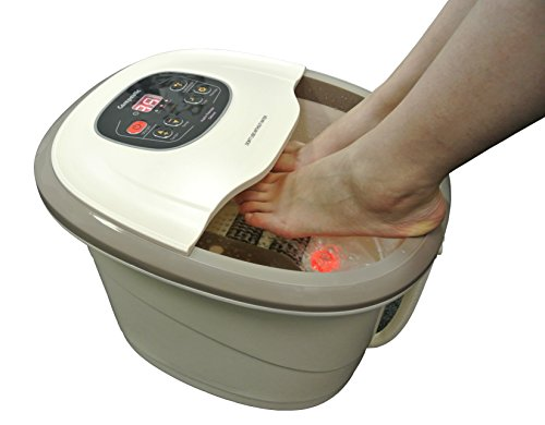 Carepeutic Motorized Hydro Therapy for Foot and Leg Spa Bath Massager, 17 Pound, Milk-White