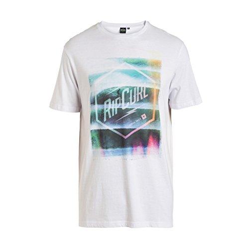 RIP CURL impossibles–Camiseta Hombre Blanco Blanco Talla:S (Talla del Fabricante: S)