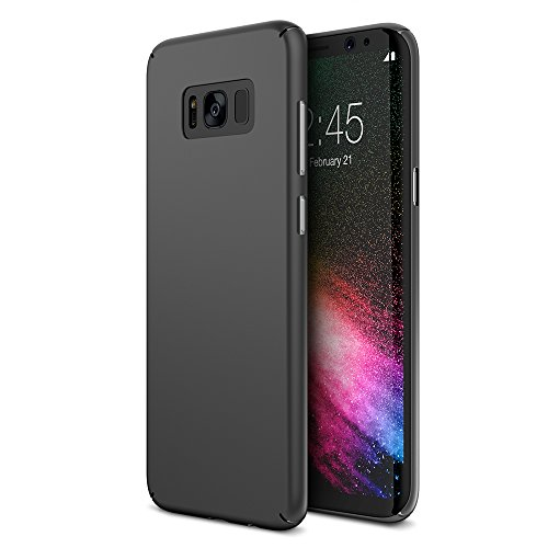 Maxboost Galaxy S8 Case mSnap [Black] Samsung Galaxy S8 Case Anti-Slip Matte Coating for Excellent Grip Thin Hard Protective PC Snap Case Covers for Samsung Galaxy s8 2017 - MB000097