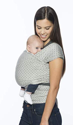 Ergobaby Babytragetuch für Neugeborene ab Geburt, Elastisches Baby Tragetuch Grau Sling Atmungsaktiv aus 100% Viskose