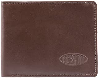Big Skinny Men's Slimline Leather Bi-Fold Slim Wallet, Holds Up to 25 Cards