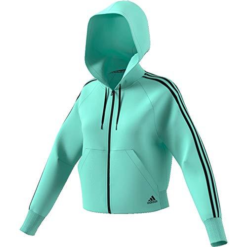 adidas Damen Must Haves 3-Streifen French Terry Full Zip Hooded Trainingsjacke XS Mint klar