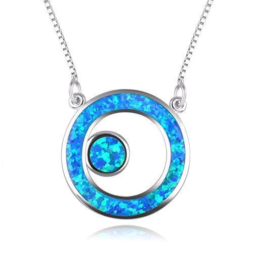 C • QUAN CHI Sterling Silber Freundschaft für die Ewigkeit Halskette, Doppelkreise Halskette Geschenk für beste Freundin