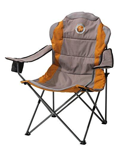 Grand Canyon Comfort - Sedia Pieghevole da Campeggio in Acciaio, Grigio/Arancione, 308012
